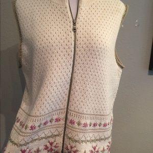 Woolrich Womens XL Decorative Vest